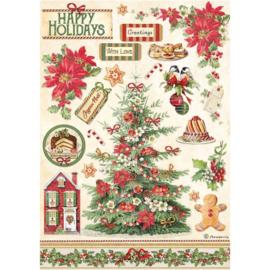 Rice paper Classic Christmas 'Tree'