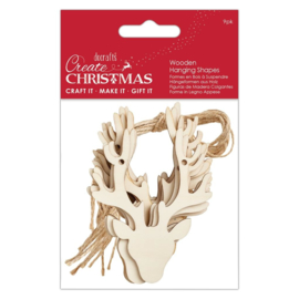 Create Christmas 'Wooden hanging shapes heads'