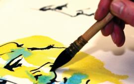 Watercolor brush size 4