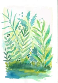 Watercolor it yourself 6. 'Grassen en Blaadjes'