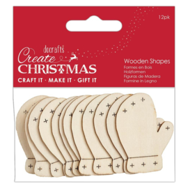 Create Christmas 'Mittens wooden shapes'