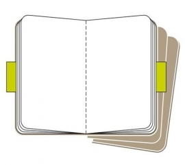 Moleskine plain notebook kraft