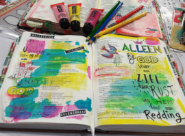 Bible journaling clearstamps 'Alfabet'