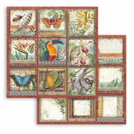 Paper sheet 'Amazonia Square Tags'
