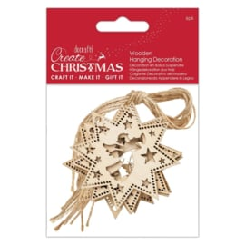 Create Christmas 'Angel wooden hanging decoration'