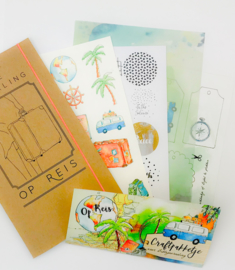 Bible journaling craftpakketje 'Op reis'