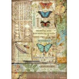 Rice paper 'Amazonia Butterfly'