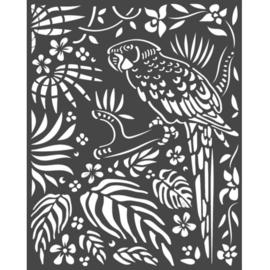 Stencil 'Amazone Parrot'