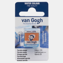 van Gogh Water Color napje 278 'Pyrrole Oranje'