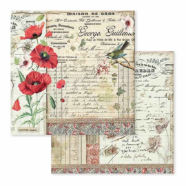 Paper sheet 'Poppy & Little Bird'