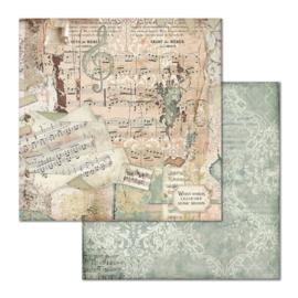 Paper sheet 'Framed 'Music'