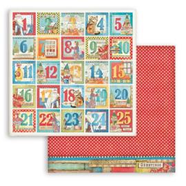 Stamperia Patchwork Christmas 'Adventkalender'