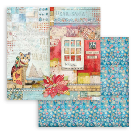 Stamperia Patchwork Christmas 'Cat'