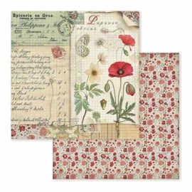 Paper sheet 'Poppy & Butterfly'