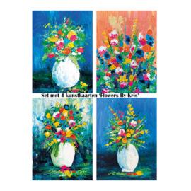 Voordeelset 'Flowers By Kris' kaarten