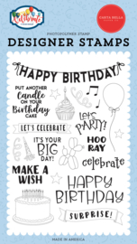 'Birthday surprise' designer stamps