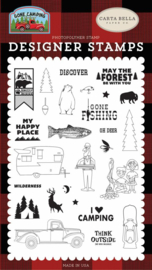 'My Happy Place' designer stamps