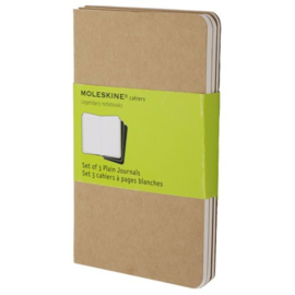 Moleskine plain notebook kraft pocket mini