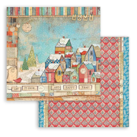 Stamperia Patchwork Christmas 'Houses'