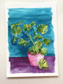 Watercolor it yourself 1. 'Monstera'