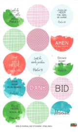Bible journaling stickervel 'Psalmen'