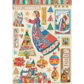 Rice paper Patchwork Christmas 'Elements'