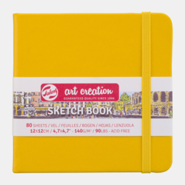 Art Creation sketchbook 'Golden Yellow' 12 x 12