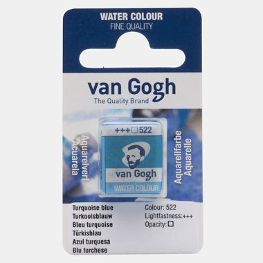 van Gogh Water Color napje 522 'Turkoois Blauw'