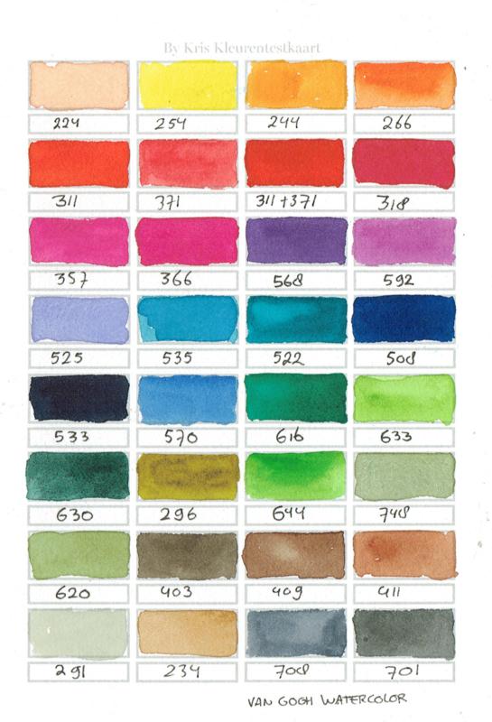 Watercolor it yourself 18. 'Kleurentestkaart'