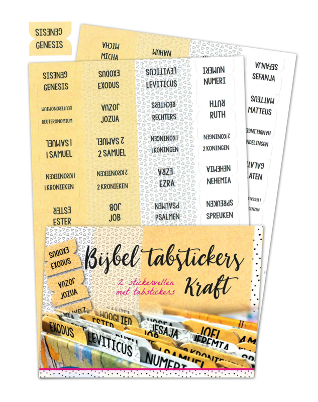 Bijbel tabstickers 'Kraft'
