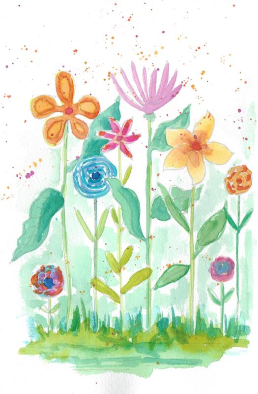 Watercolor it yourself 9. 'Fantasie Bloemen'
