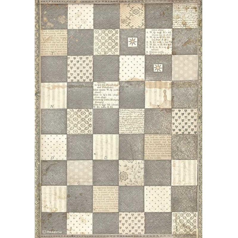 Rice paper 'Alice chess Board'