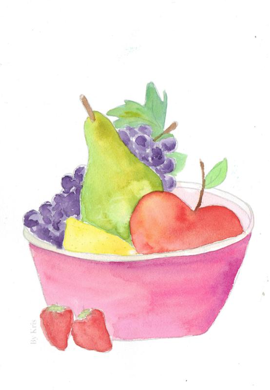 Watercolor it yourself 3. 'Fruitschaal'