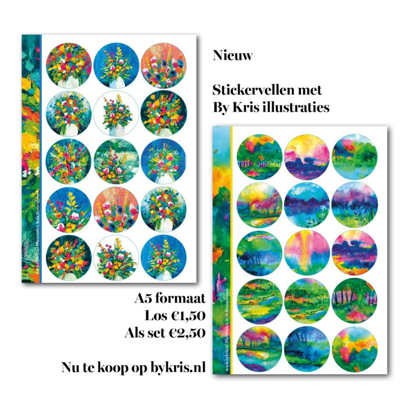 Set met 2 By Kris Stickervellen