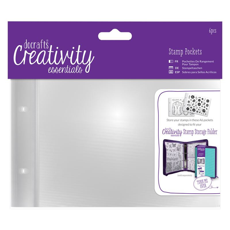 Docraft clear stamp pockets A6