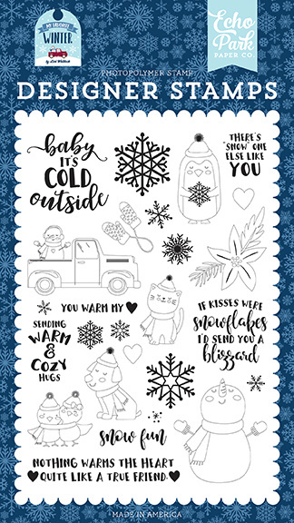 'You warm my heart' designer stamps