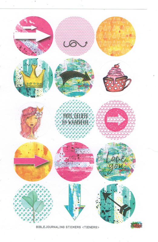 Stickervel 'Mooi, geliefd en waardevol'
