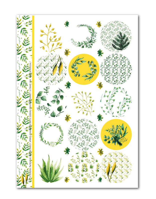Stickervel 'Wreaths'