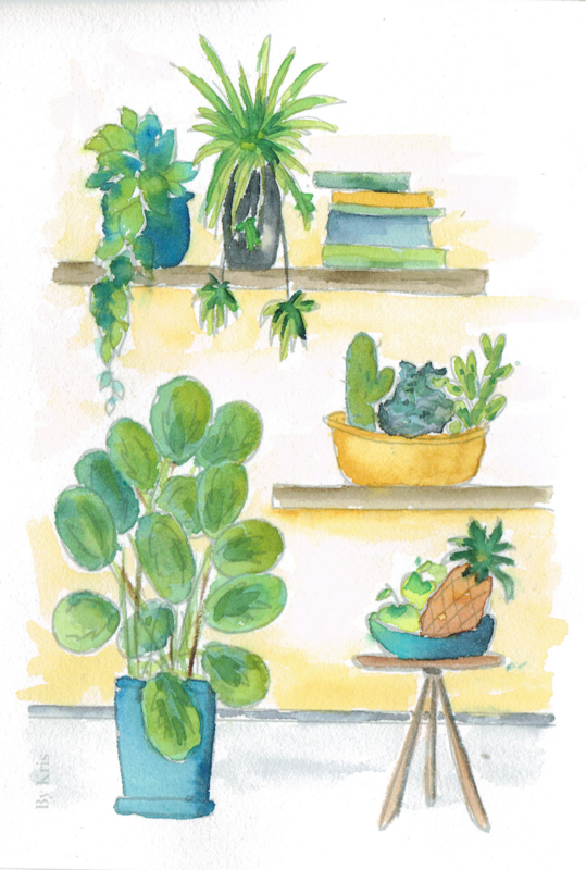 Watercolor it yourself 7. 'Kamerplanten'