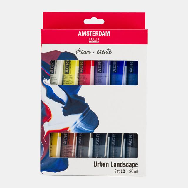 Amsterdam acrylverf 'Urban landscape'