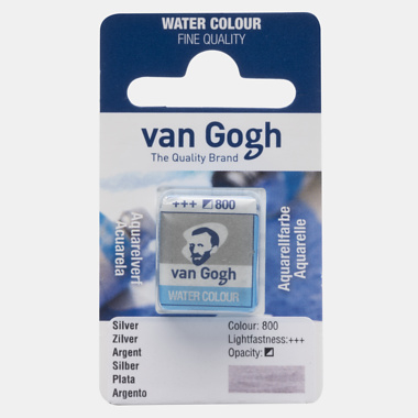van Gogh Water Color napje 800  'Zilver'
