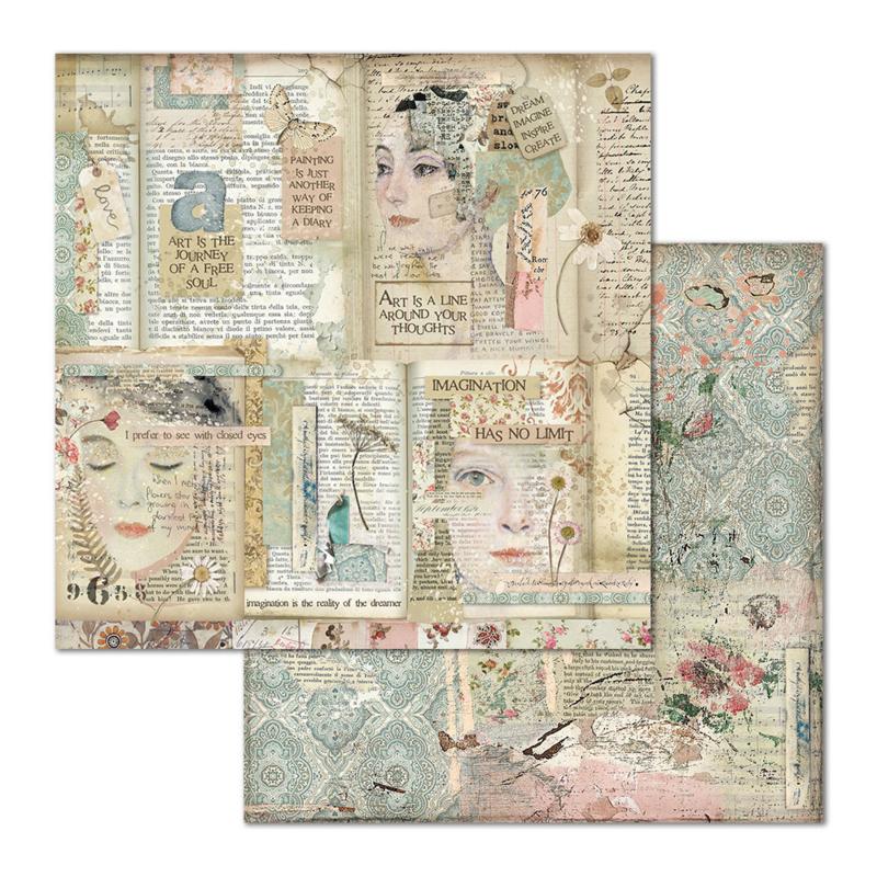 Paper sheet 'Framed 'Faces & Writings'