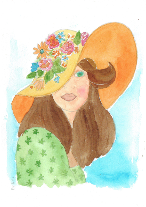 Watercolor it yourself 5. 'Meisje met hoed'