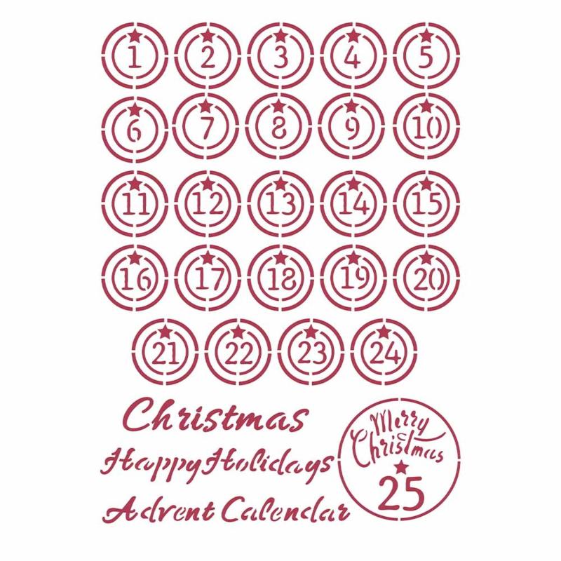 Stamperia Patchwork Christmas Stencil Ádvent'