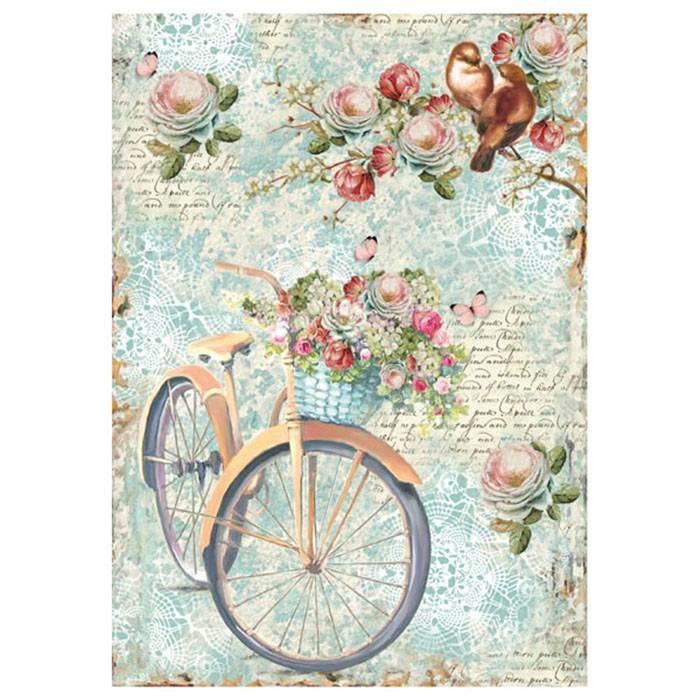 Rice paper 'Bike & Branch'