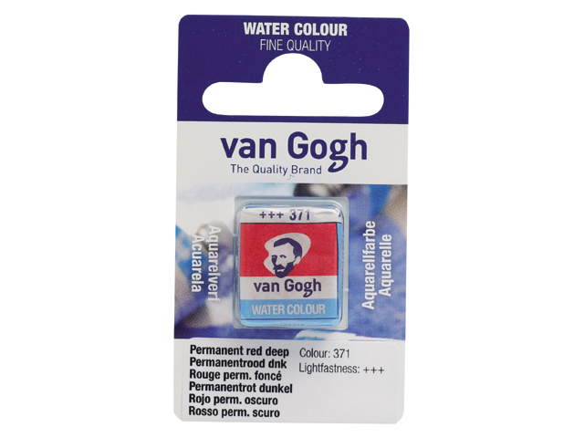 van Gogh Water Color napje 371 'Permanentrood donker'