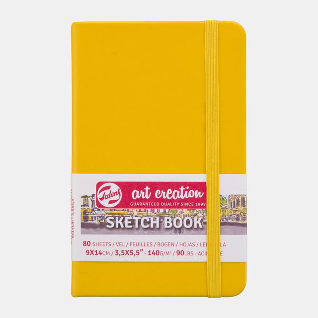 Art Creation sketchbook 'Golden Yellow' 9 x 14 cm