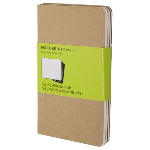 Moleskine plain mini notebook kraft pocket