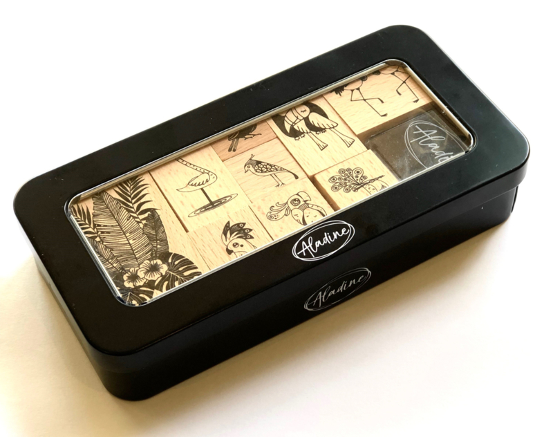 Rubber stamp box 'Birds'