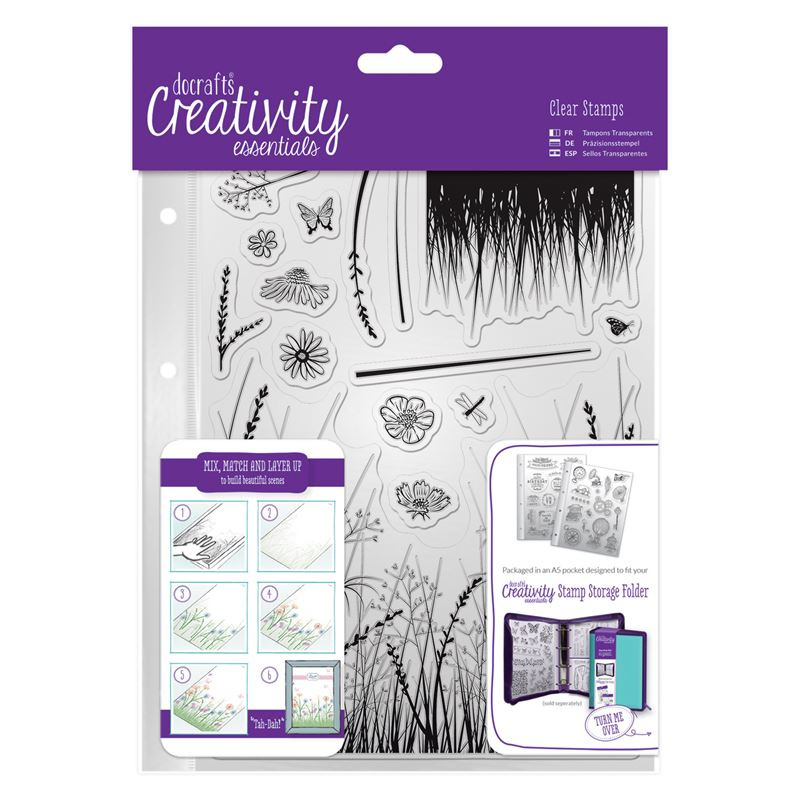 Docraft clear stamps 'Meadow'